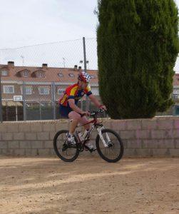 Josele en el tramo en bici